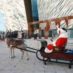 Santa switches on Titanic Christmas Lights