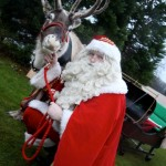 Santa and our reindeer