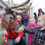 Kids getting the opportunity to see our reindeer